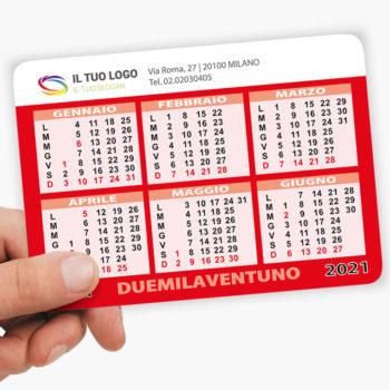 calendario tascabile 2021 da stampare gratis